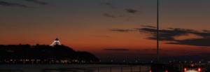 夕焼けの後の江ノ島