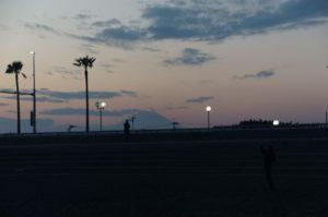 江ノ島から見る富士山